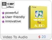 A-one Video To Audio Convertor screenshot